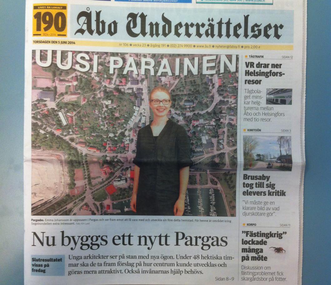 Åbo underrättelser 5.6.2014 sivu 1