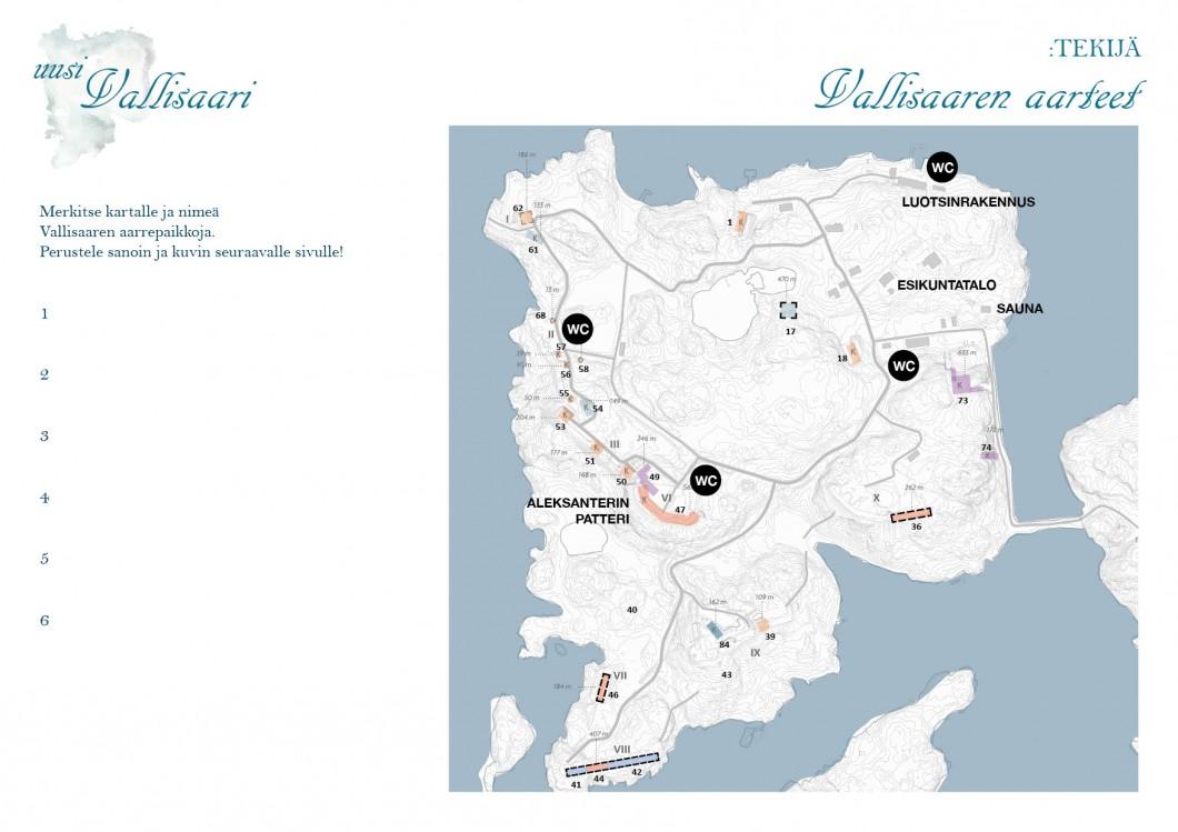 Vallisaari Kartta
